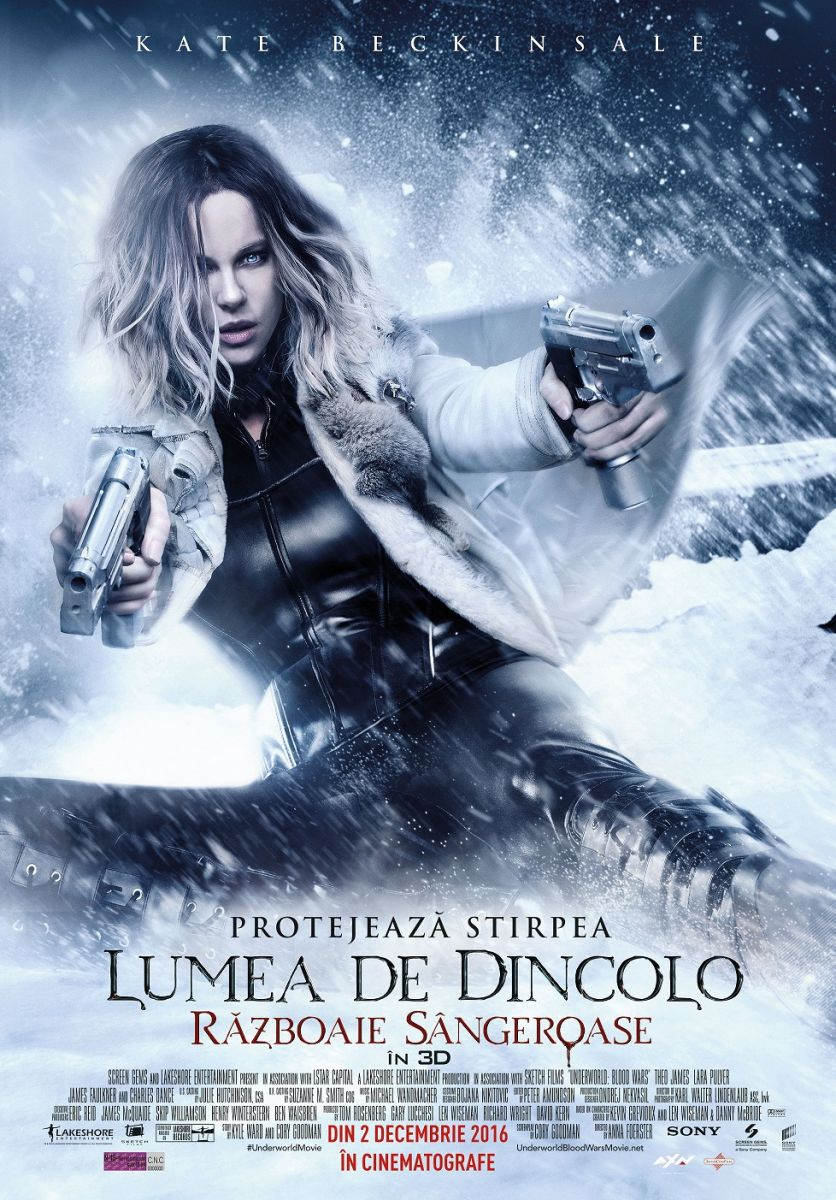 "Noul blockbuster ""Underworld: Blood Wars"", la cinema"