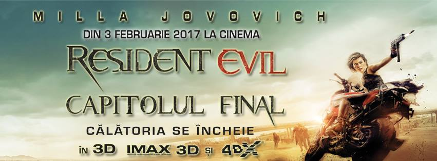 """Resident Evil. Final Chapter"", lider detașat de box office în România"