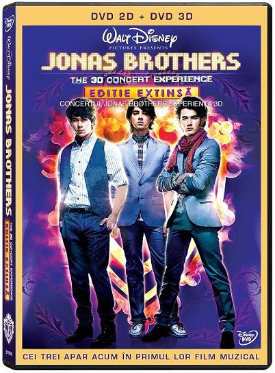 Jonas Brothers, in concert 2D si 3D pe DVD
