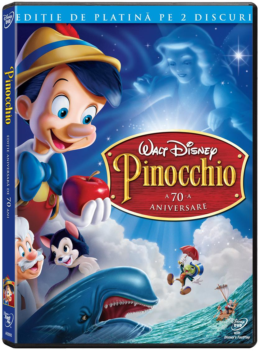 "Animatia Disney ""Pinocchio"", pentru prima data pe DVD in Romania"